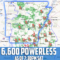 MAP: Over 6,600 without Power in Arkansas from Weather Havoc